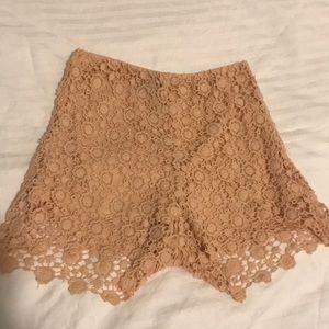 Charlotte Russe Lace shorts (size xs)